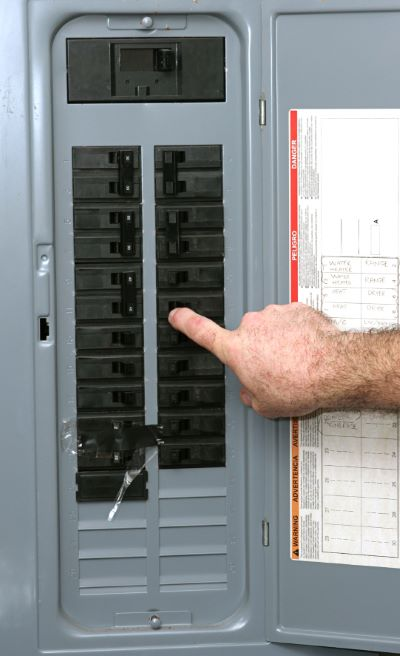 Electrical panel updates by PTI Electric, Plumbing, & HVAC