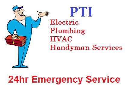 Residential & Commercial electrical services by PTI Electric, Plumbing, & HVAC
