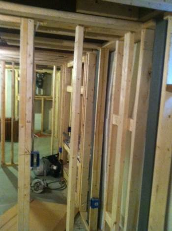 Basement Remodeling and Framing in Aloe, OH